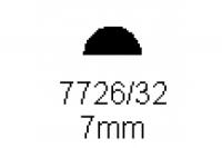 Halbrundprofil 7.0mm Länge 1000mm