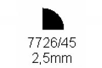 Viertelrundprofil 2.5mm Länge 1000mm