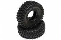 BOOM RACING 2pcs. HUSTLER M/T Xtreme 1.9 MC1 Rock Crawling Tires 4.19x1.46 with 2-Stage Foams Super Soft