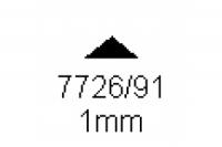 3-kant Profil 90° 1.0mm Länge 1000mm