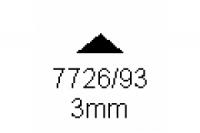 3-kant Profil 90° 3.0mm Länge 1000mm