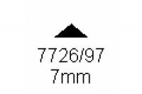 3-kant Profil 90° 7.0mm Länge 1000mm