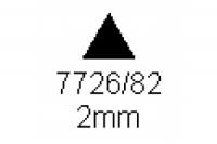 3-kant Profil 60° 2.0mm Länge 1000mm