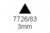 3-kant Profil 60° 3.0mm Länge 1000mm