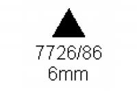3-kant Profil 60° 6.0mm Länge 1000mm