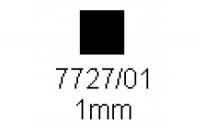 4-kant Profil quadratisch 1.0x1.0mm Länge 1000mm
