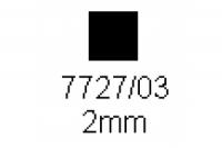 4-kant Profil quadratisch 2.0x2.0mm Länge 1000mm