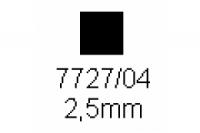 4-kant Profil quadratisch 2.5x2.5mm Länge 1000mm