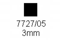 4-kant Profil quadratisch 3.0x3.0mm Länge 1000mm