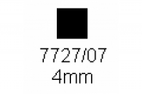 4-kant Profil quadratisch 4.0x4.0mm Länge 1000mm