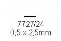 4-kant Profil rechteckig 0.5x2.5mm Länge 1000mm