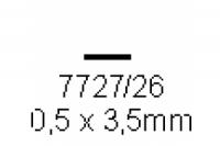 4-kant Profil rechteckig 0.5x3.5mm Länge 1000mm