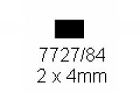 4-kant Profil rechteckig 2.0x4.0mm Länge 1000mm
