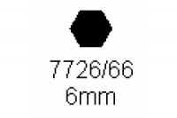6-kant Profil SW 6.0mm Länge 1000mm