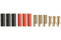 5.5mm Goldstecker, 3 Paare Buchse/Stift