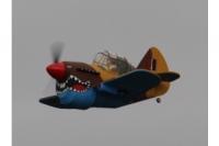 """Fatty"" Curtiss P40 Depron Teilesatz & Kabinenhaube"