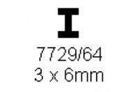 H-Profil 3.0x6.0mm Länge 1000mm